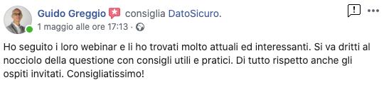 Recensione Facebook di Guido Greggio