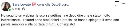 Recensioni-Facebook-DatoSicuro-SaraLovato
