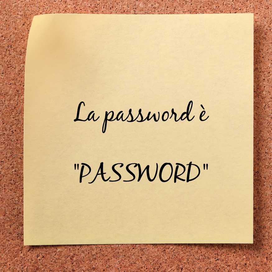 """Un post-it con la scritta """"Password"""""""